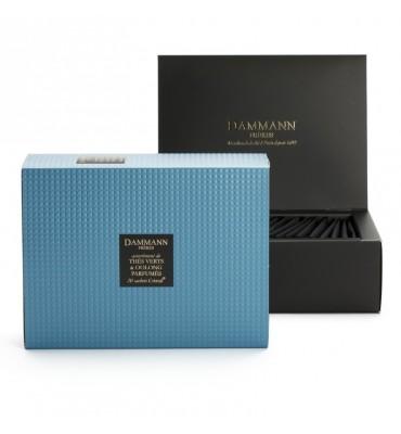 Coffret de 20 sachets de thé verts et oolongs parfumés