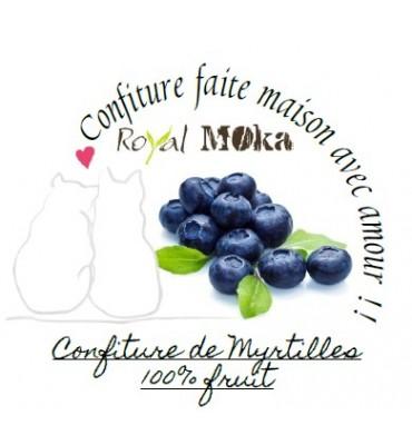 Confiture maison de Myrtilles au fructose