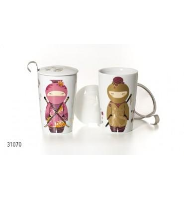 Tisanière porcelaine double paroi Ninja 35 cl