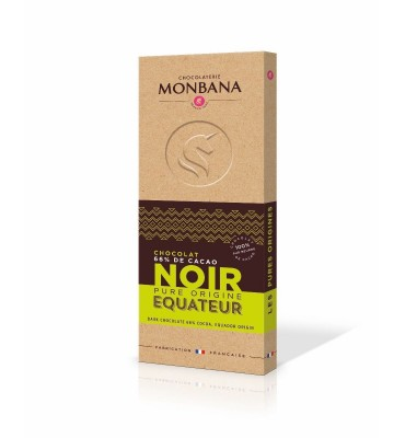 Tablette de chocolat noir, Equateur, pure origine