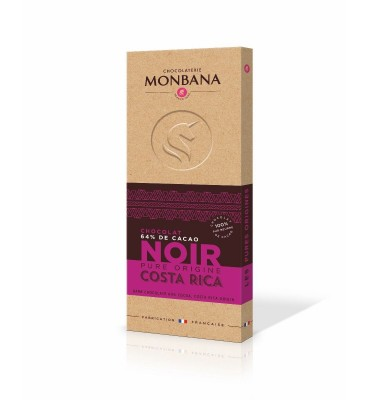 Tablette de chocolat noir, Cost Rica, pure origine