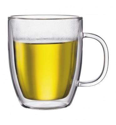 Lot de 2 Mug Jumbo en verre double paroi, BODUM 0.45 cl