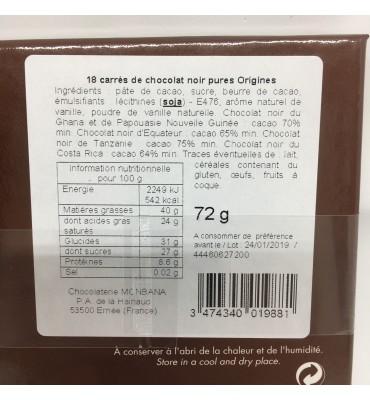 Coffret Carré de chocolats...