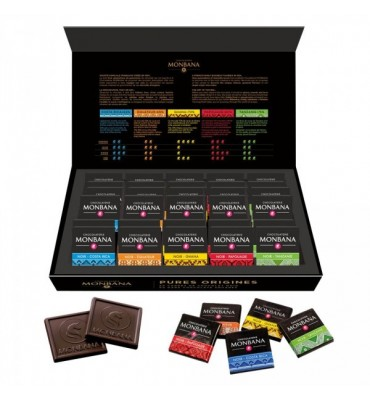 "Coffret de 50 Carré de chocolats ""Pures Origines """