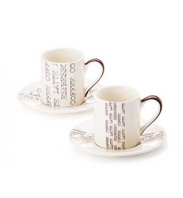 """Service à café 2 tasses et 2 sous tasses """"Camillo"""""""