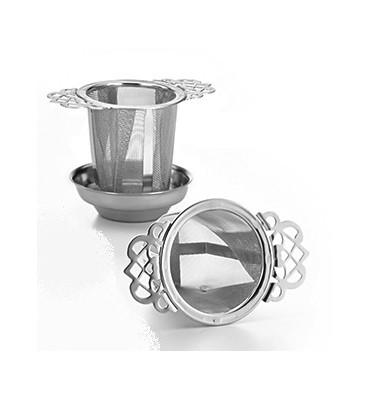 Passe thé inox 5.5 cm avec coupelle