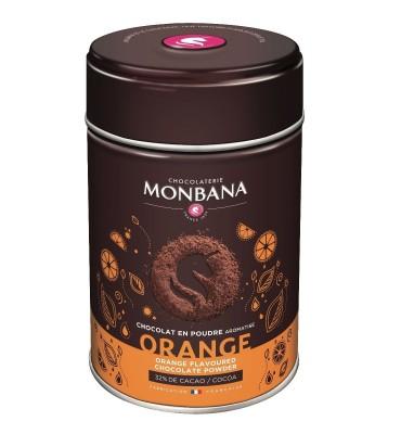 Chocolat en poudre aromatisé Orange en boîte de 250g