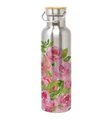 Bouteille inox double paroi isotherme 750 ml Grosses roses
