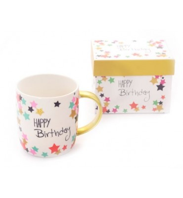 "Coffret avec Mug ""Happy Birthday"" 35 cl"