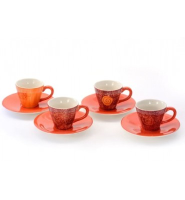 Lot de 4 tasses à café Patricia 5 cl