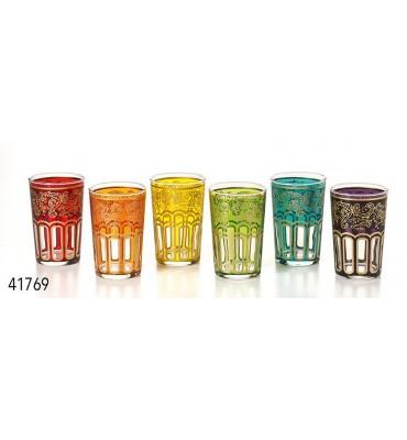"""Lot de 6 verres à thé Marocain """"Hassieb"""""""