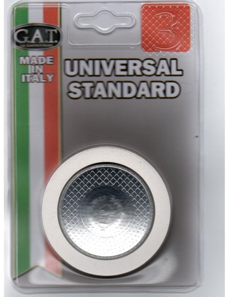 Joint universel standard pour cafetière italienne 3 tasses (2 joints + 1 filtre inox)