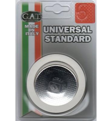 Joint universel standard pour cafetière italienne 6 tasses (2 joints + 1 filtre inox)